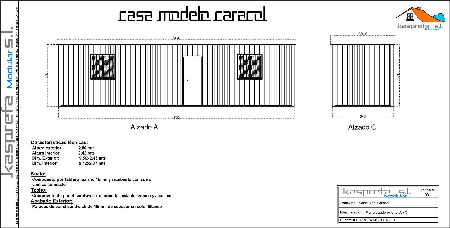 casa caracol - kasprefa modular s.l