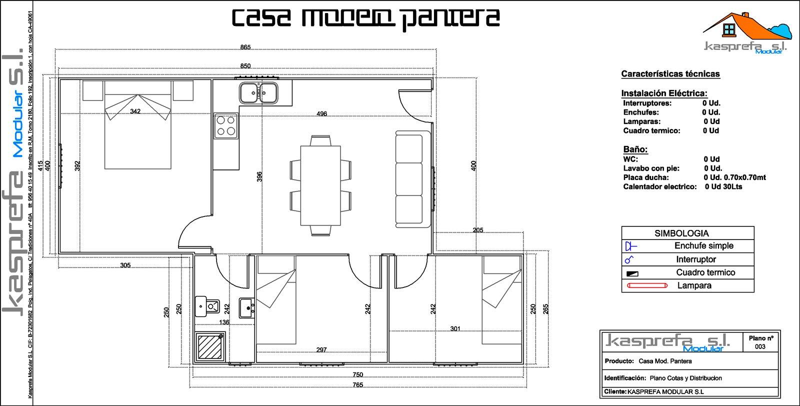 Casa pantera kasprefa modular s l - Distribucion casa ...